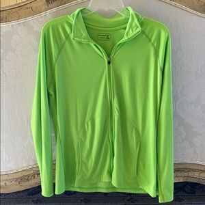 Zip up jacket lime green